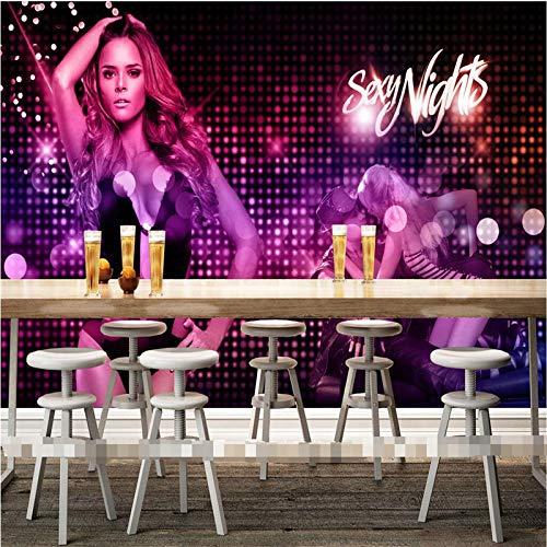 Wongxl Wallpaper 3D Frau Aerobic Fitness Musik Disco Disco Bar Ktv Unterhaltung Wall Bilder Wandbild Wandbilder 3D Wall Papers Home Decor 3D Tapeten Fresko Wandmalerei Mural Wallpaper 300cmX250cm