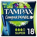 Tampax Compak Pearl Super Tampones, 18 unidades