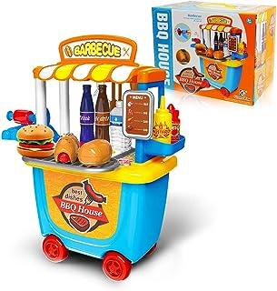 GizmoVine Niños Pretender Playset Juguetes, 33 PCS BBQ Juguete para 2+ 3+ años Chicas Chicos Regalos de cumpleaños Educacional Juguete (2019 Actualizado)