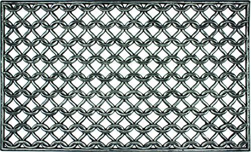 PEGANE Tapis Gratte-Pieds extérieur Grille Maille en Caoutchouc - Dim : 45 x 75 cm