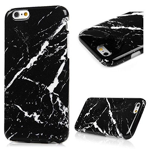 Coque de protection pour iPhone 6 et 6S Motif marbre coloré Coque en TPU antichocs ultra mince souple flexible et résistante aux rayures