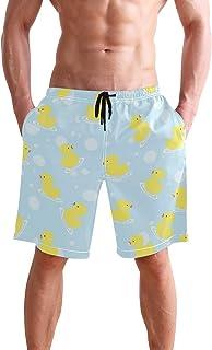 MaoYTUI Boston Terriers Blue Faces Mens Swim Trunks Boys Quick Dry Bathing Suits Drawstring Waist Beach Broad Shorts Swim Suit Beachwear with Mesh Lining