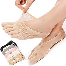 6 paar orthopedische compressiesokken, orthopedische compressiesokken, antislip-yogasokken met volledige teen, teenensokke...