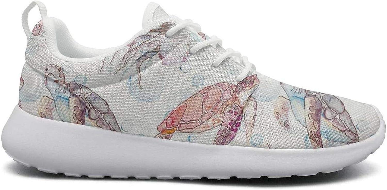 Gjsonmv Cute Turtle mesh Lightweight shoes for Women Cool Sports Bike Sneakers shoes