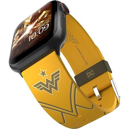 DC Comics - Wonder Woman 1984: Golden Armor Edition - Cinturino in silicone con licenza ufficiale compatibile con Apple Watch, compatibile con Apple Watch, 38 mm, 40 mm, 42 mm e 44 mm