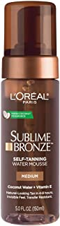 Self tanner by L'Oreal Paris, Sublime Bronze Hydrating Self-Tanning Water Mousse, Quick-Drying, Streak-Free Self-Tanner for Natural-Looking Tan, 5 fl. oz.