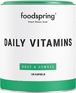 foodspring Daily Vitamins. 100 cápsulas. Aporte vitamínico para cada día