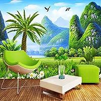 自然風景カスタム3D写真の壁紙大壁画壁紙絵画リビングルームのソファテレビ壁画壁画3D-350X250CM
