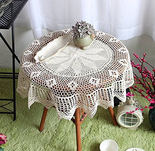starail hand-crocheted algodón ganchillo manteles, redonda toalla...
