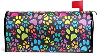WOOR Colorful Animal Dogs or Cats Paws Magnetic Mailbox Cover Oversized-20.8