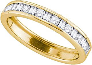Best baguette diamond wedding band yellow gold Reviews