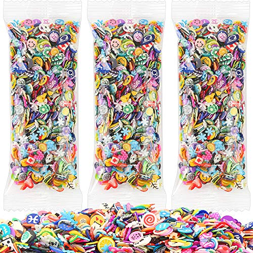 3000 Pcs Nail Art Slices,FANDAMEI Cute Design 3D Nail Art Stickers Fruits Animals Flowers Nail Art Slices for DIY Crafts, Nail Art and Cellphone Decoration