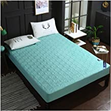 """Queen Mattress Protector Waterproof Quilted Fitted Mattress Pad Cover Stretches up to 12"""" Deep Pocket with Breathable Cott..."""