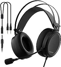 NUBWO-N7 PC Gaming Headset Xbox One PS4 Playstation 4 Headphones Computer PC Mic Stereo Gamer Microphone for PC/Playstation 4/Xbox One/Laptop/Tablet/Cell Phone/Mac-Black