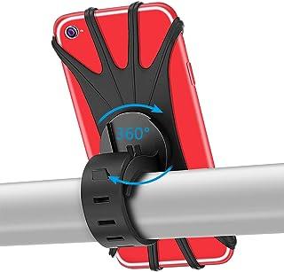 PEYOU Soporte Movil Bici, 360° Rotación Soporte Movil Moto Bicicleta, Ajustable Universal Silicona Teléfono Manillar, Compatible para iPhone X/XR/XS MAX, para Samsung Galaxy, Xiaomi, Huawei (4