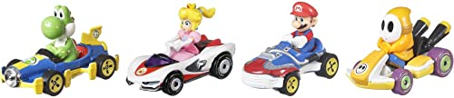 2021 Hot Wheels Mario Kart Vehicle 4-Pack, Set of 4 Fan-Favorite Characters Includes high quality 1 Exclusive Model, Collectible Gift for Kids popular & Fans Ages 3 Years Old & Up sale