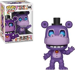 Funko Mr. Hippo: Five Nights at Freddy's x POP! Games Vinyl Figure & 1 POP! Compatible PET Plastic Graphical Protector Bundle [#368 / 32061 - B]
