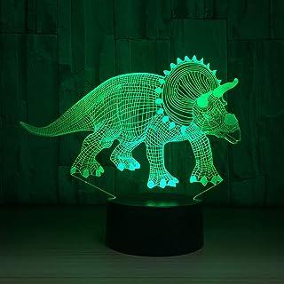 wangZJ Lámpara de ilusión visual 3d / 7 luces de noche cambiantes de color/decoración