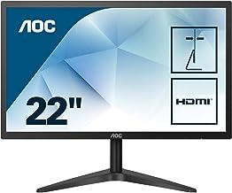 """AOC 22B1HS 21.5"""" Full HD LED Flat Black Computer Monitor"""