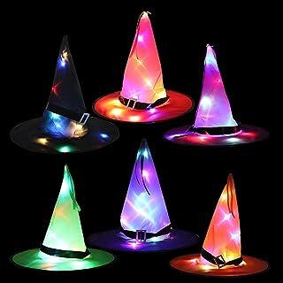 هالوين قبعة عيد الأشباح الطرف الديكور الدعائم أدى ضوء قبعة ساحرة ساحرة ساحرة قبعة قبعة ساحرة Multi
