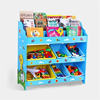Toy Storage Box Children Finishing Storage Rack For Organizing Toy Storage Baby Toys Kids Toys Dog Toys Baby Clothing Children Books For Kids Childrens Toy Box Color Blue Size Free size