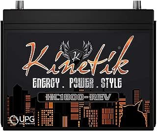 Kinetik HC1800-REV 1800 Watt 12V High Current Car Audio Power Cell Battery With Advanced AGM Technology