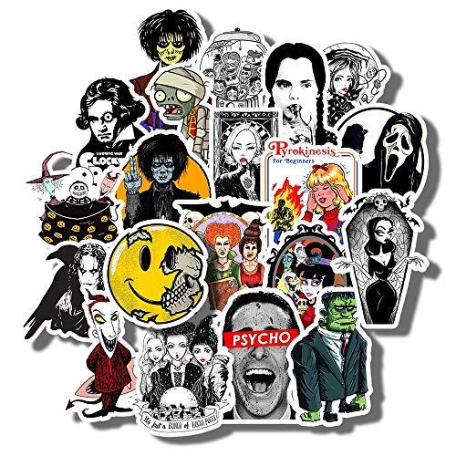 Kimlosk Set Full Swag Carolinee Halloween Vintage Retro Fan Arts Best Gift Ideas 20pcs Vinyl Stickers for Laptops Cars Bottles Books Luggages