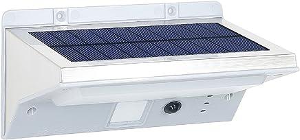 342e11560e Lumi Jardin DERBY W11 Projecteur Applique Spot Solaire 21 LED Extérieur  Etanche Lumière avec Détecteur de