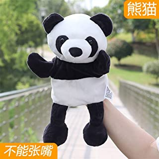 Finger Pocket Plush Toy Tell Family Stories appease Plush Toys Mouth Hand Puppet Toy Doll Cartoon Jungle Animal Nursery Super Cute ( Color : Panda , Size : 30cm )