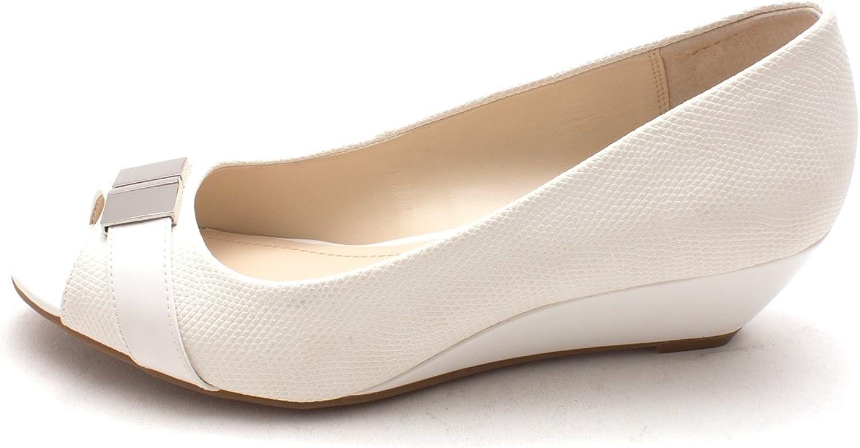 Alfani Womens Step Flex Closed Toe Casual Platform, White Cotton, Size 8.5