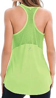 Camiseta de Tirantes de Malla con Espalda Cruzada para Yoga, para Mujer