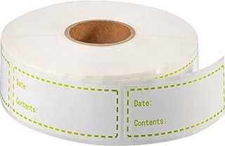 1000 Pieces 1 x 3 Inch Food Storage Freezer Sticker Removable Refrigerator Freezer Labels