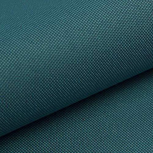 NOVELY® HANAU - Uni Polsterstoff Möbelstoff in Baumwoll Optik (09 Türkis Blau)