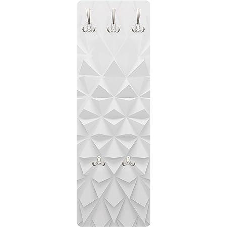 Bianco Muro di Pietra 139 x 46cm Bilderwelten Appendiabiti a Parete Salone Effetto Pietra
