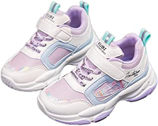 Hopscotch Boys and Girls PU Solid Fixed Lace Athletic Shoe in Purple Color