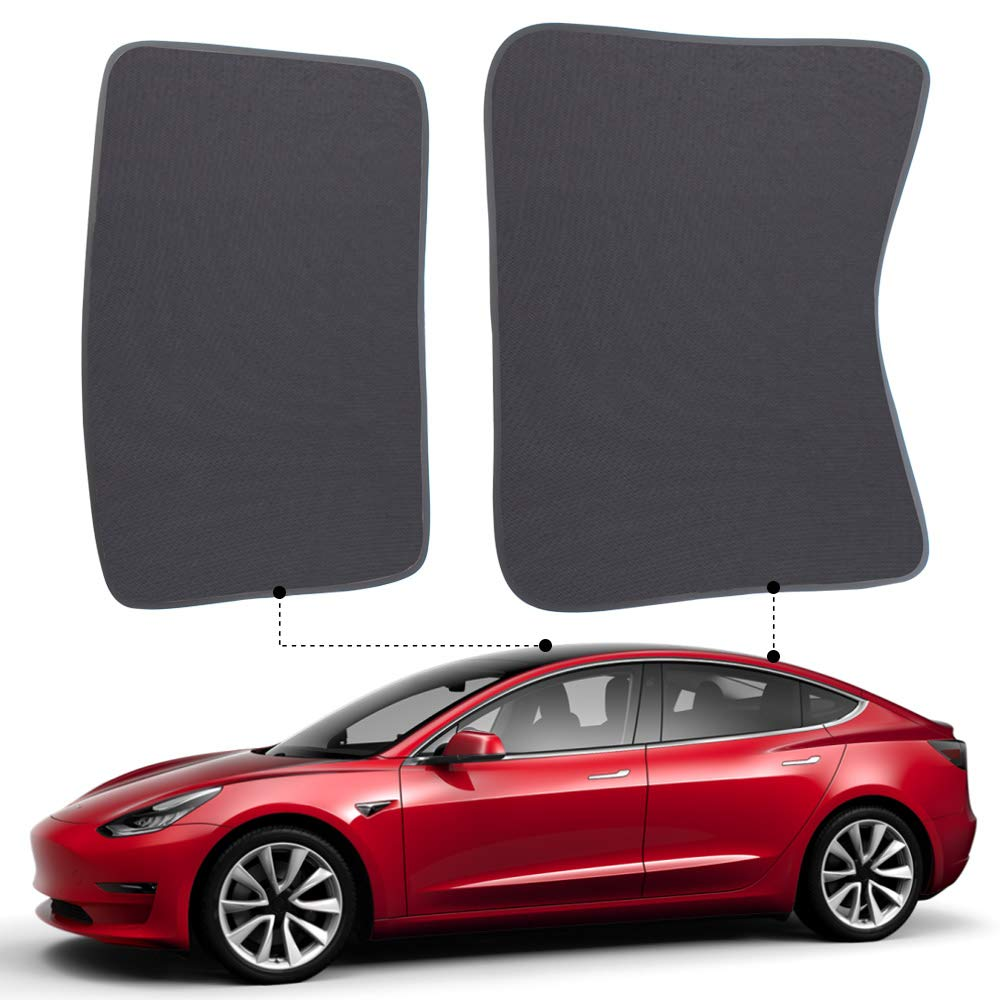 X AUTOHAUX Glass Sunroof Shade Cover Front Sunroof Shade Cover for Tesla Model S Top Roof