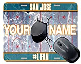BRGiftShop Customize Your Own Hockey Team San Jose Square Mouse Pad