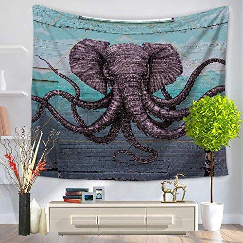 KHKJ Tapiz de Alfombra de Montaje en Pared de Elefante Rectangular Rectangular Cubierta de Cama patrón de mamut decoración del hogar Estera de Yoga de Playa A7 200x150cm