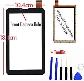GR Touch Screen Digitizer Panel for Plum Optimax 7.0 Z709 7 Inch Phablet Smart Phone PC (Black)