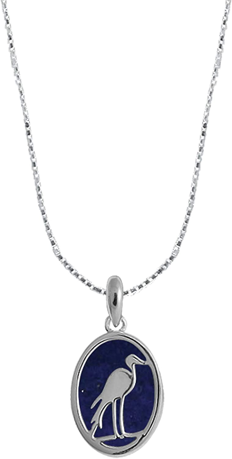 Boma Jewelry Sterling Silver Heron Necklace Inches Bird Import 16 Max 63% OFF