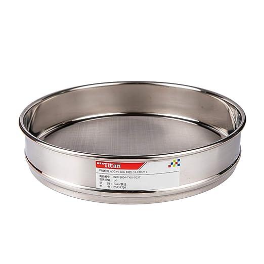 /φ10 /× 4,5 cm Tansoole Laborbedarf Edelstahlfilter Edelstahlsieb 5#(Lochdurchmesser: 5mm)