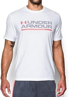 Under Armour Men's Wordmark Lock up Short Sleeve