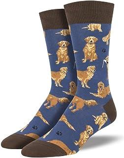 LilyRosa® - Calcetines para hombre o niño, diseño de perro Golden Retriever