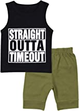 Toddler Baby Boy Clothes Long Sleeve Funny Letter Sweatshirt Top + Camouflage Pants Summer Breathable Outfit Set