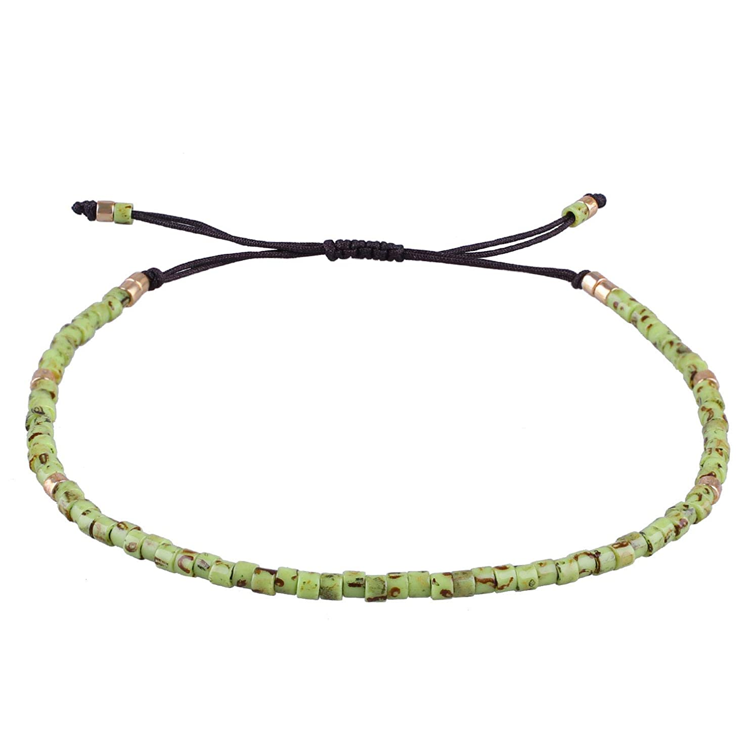KELITCH Seed Bead Friendship Strand Bracelet Handmade Beaded String Bracelet Fashion Charm Jewelry