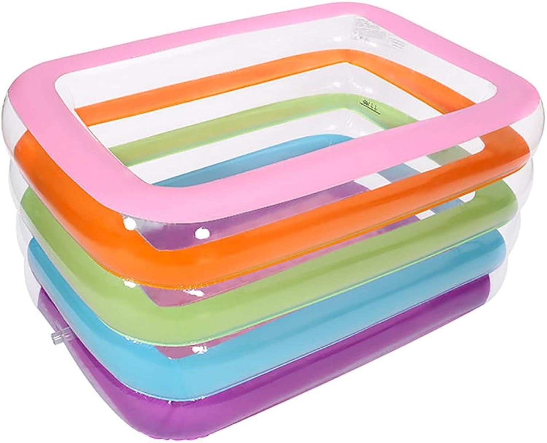 Mode nach Hause ZHILIAN Faltbare Aufblasbare Dicke Warme Erwachsene Badewanne, Kinder Aufblasbare Pool Badewanne, Transparent (Farbe   Rainbow)