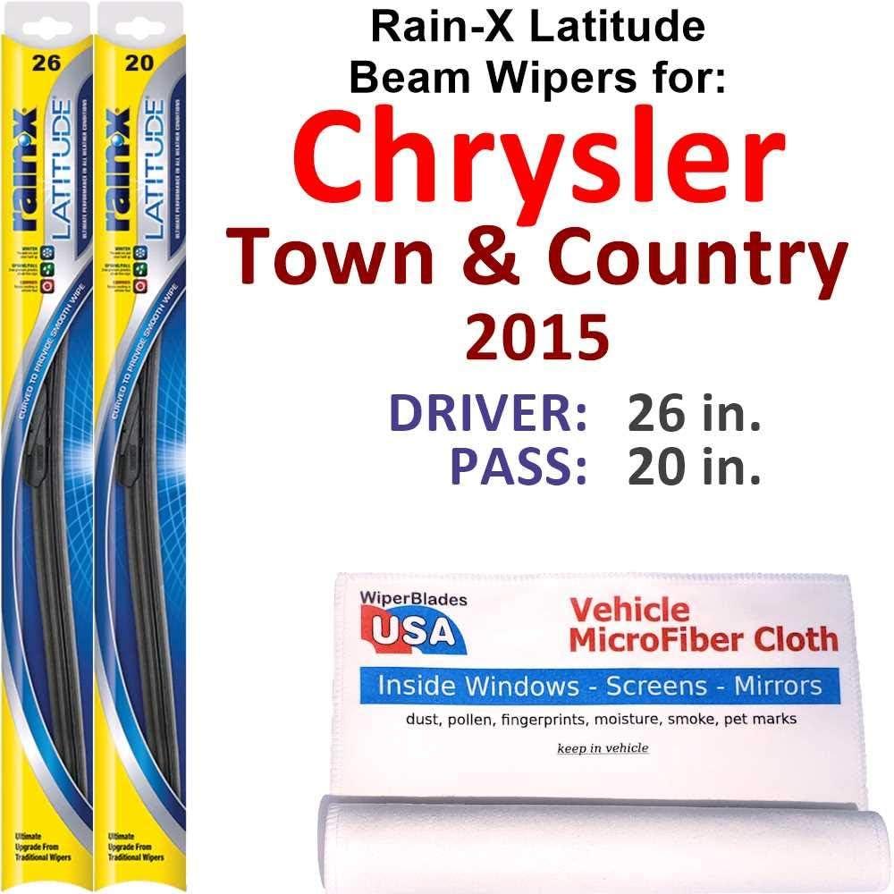 price Rain-X Latitude Beam Wiper Soldering Blades Count for 2015 Town Chrysler