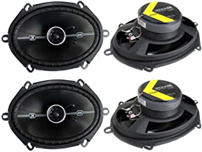 4 Kicker 41DSC684 D-Series 6x8 400 Watt 2-Way 4-Ohm Car Audio Coaxial Speakers photo