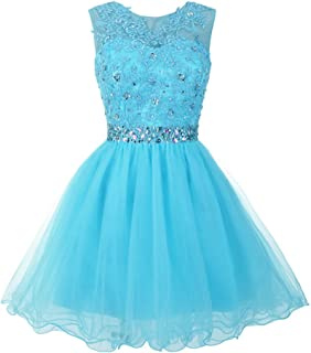Women's Tulle Short Applique Beading Formal Homecoming Cocktail Party Dress