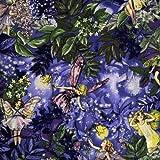 Fat Quarter Nachtblumen-Feen, lila, 100% Baumwolle (dm5043)